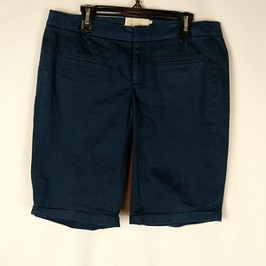 Anthropologie Elevenses Women's Size 2 Bermuda Nav
